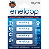 Sanyo 750mAh AAA Eneloop Mignon Battery (Pack of 4)