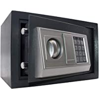 Cofre eletrônico digital - Cinza- 31x20x20 cm - chave e senha - GT96-G