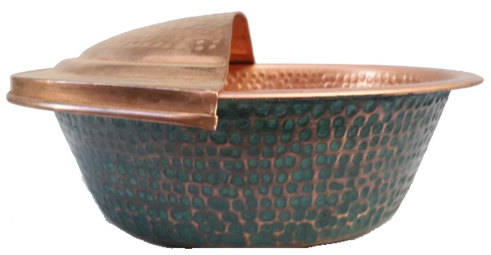 Egypt gift shops Verdigris Gold Double Finish Foot Soaking Massage Bath Bucket Pedi Tub Spa Pedicure Bowl + Rest
