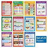 "Theater and Drama - Set of 25 Posters | Classroom Posters for Drama & Acting | Gloss Paper measuring 33"" x 23.5"" Drama School Posters, Educational Wall Charts, by Daydream Education"