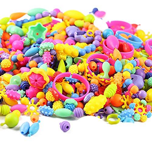 Looching 165pcs Kids Pop Beads Set Creative Jewelry Snap Kit DIY Necklace Bracelet Art Crafts Gift Toys for Kids Girls