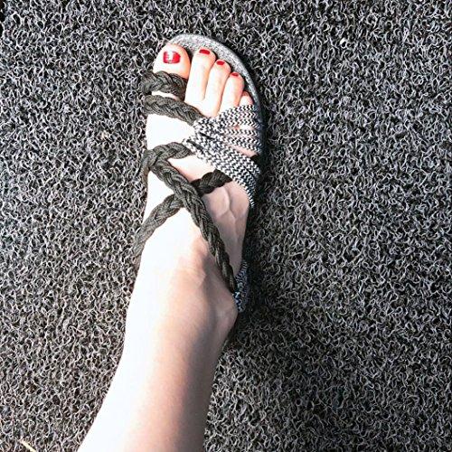 Longra 2018 Women's Summer Sandals,Spring Ladies Cross Strap Roman Sandal Low Flat Heel Fashion Beach Shoes Strap Sandal White