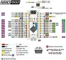 KOOKYE 5PCS Nano V3,0 ATMEGA328P CH340G 5V 16m módulo de micro ...