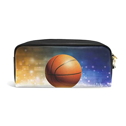 Domoko - Estuche de bolígrafo de baloncesto de piel sintética con ...