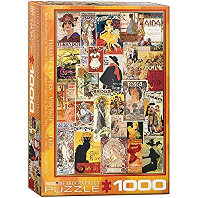 EuroGraphics Opera & Theater Vintage Collage Puzzle (1000 Pieces) (6000-0935): Toys & Games