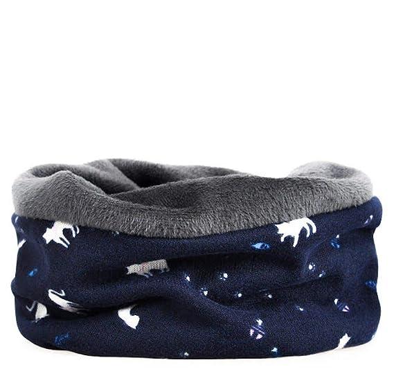 ShopINess Gorro Beanie multifunción con Forro Interior y Motivo de Gatos (Azul Oscuro): Amazon.es: Ropa y accesorios