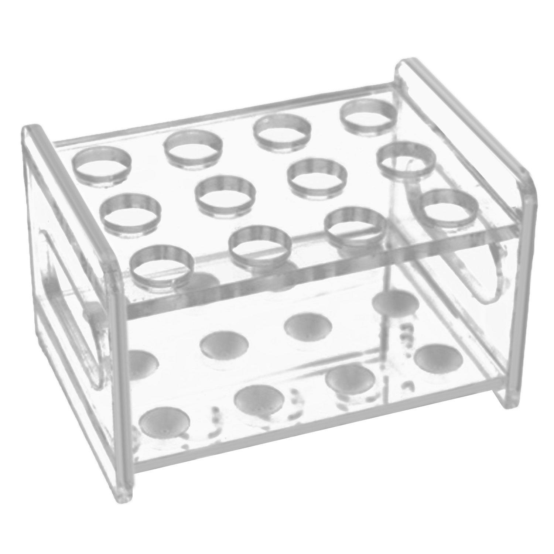 12 Slots Acrylic Strong Test Tube Cups Holder Organizer Rack for Laboratory Exhibition Bar KTV Gosear