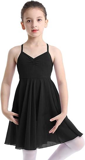 Kids Girls Lyrical Ballet Dance Leotard Dress Ballerina Gymnastics Dancing Wear