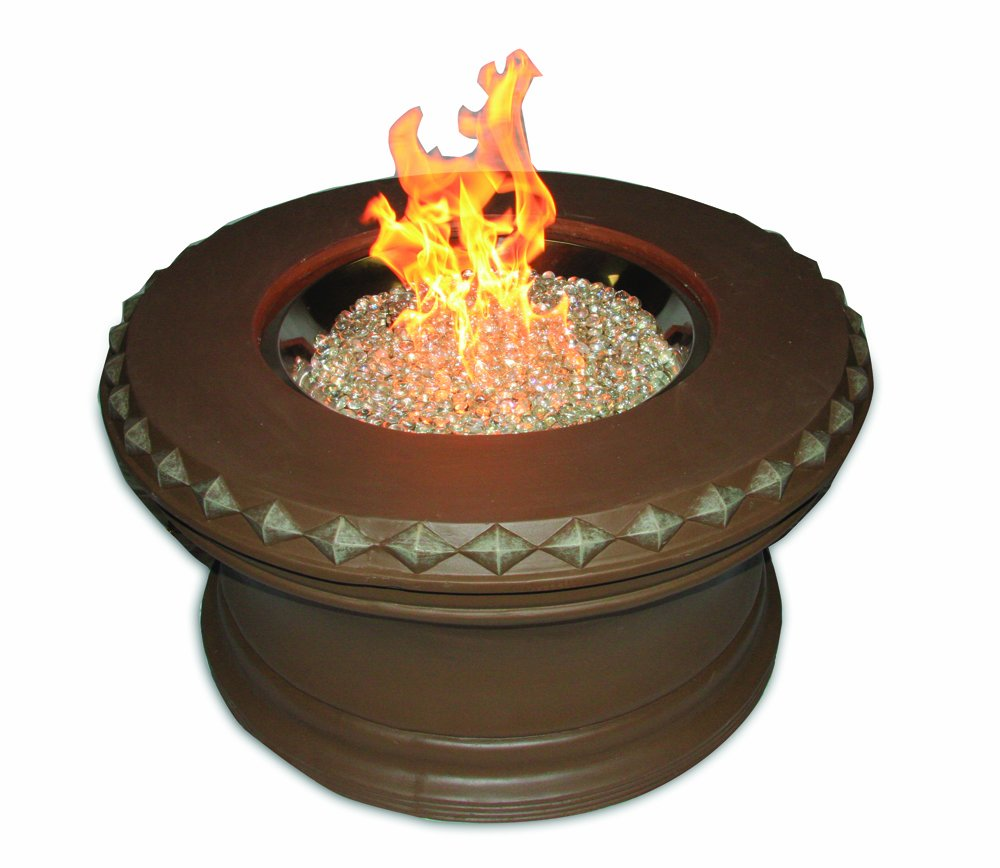 The Outdoor GreatRoom Company Aztek 36-Inch Fire Pit with 20-Inch Crystal Fire Burner