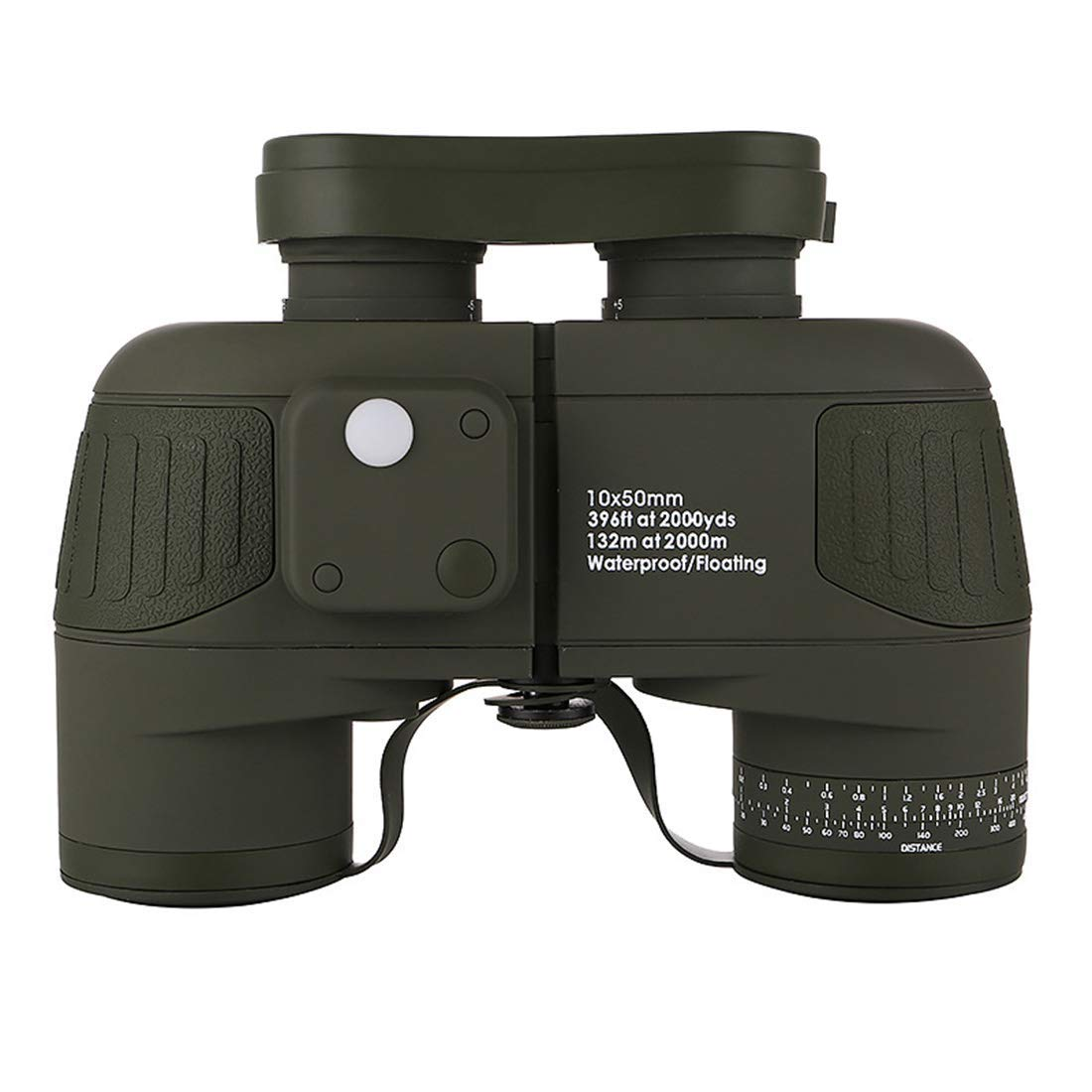 Binoculars, Lights Low Level Night Vision HD, Nautical Compass View Waterproof Outdoor 10x50 (Color : Green)