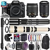 Holiday Saving Bundle for D7500 DSLR Camera + AF-P 70-300mm VR Lens + 650-1300mm Telephoto Lens + AF-P 18-55mm + 500mm Telephoto Lens + 6PC Graduated Color Filter - International Version