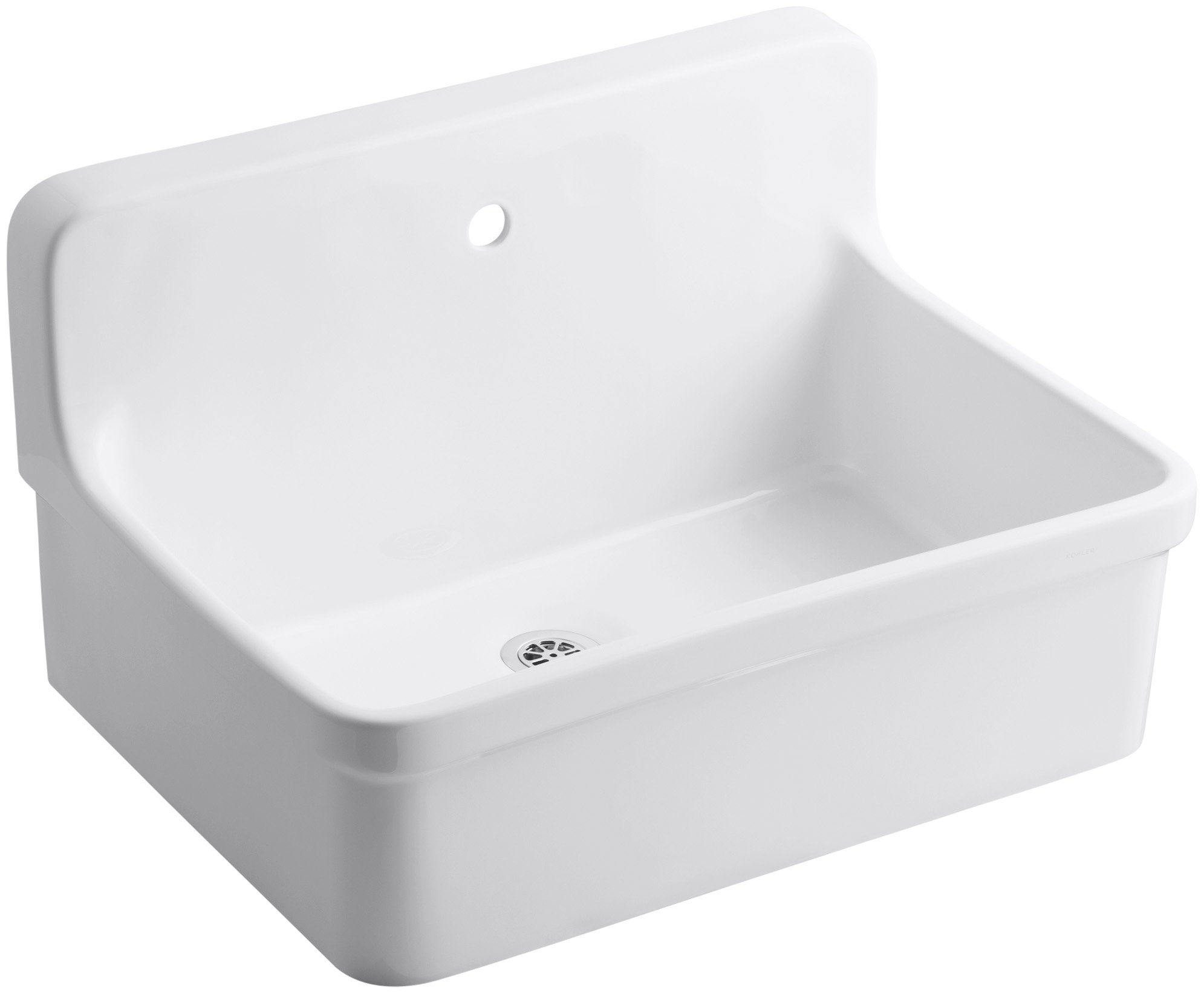 KOHLER K-12781-0 Gilford Scrub-Up Plaster Sink, White