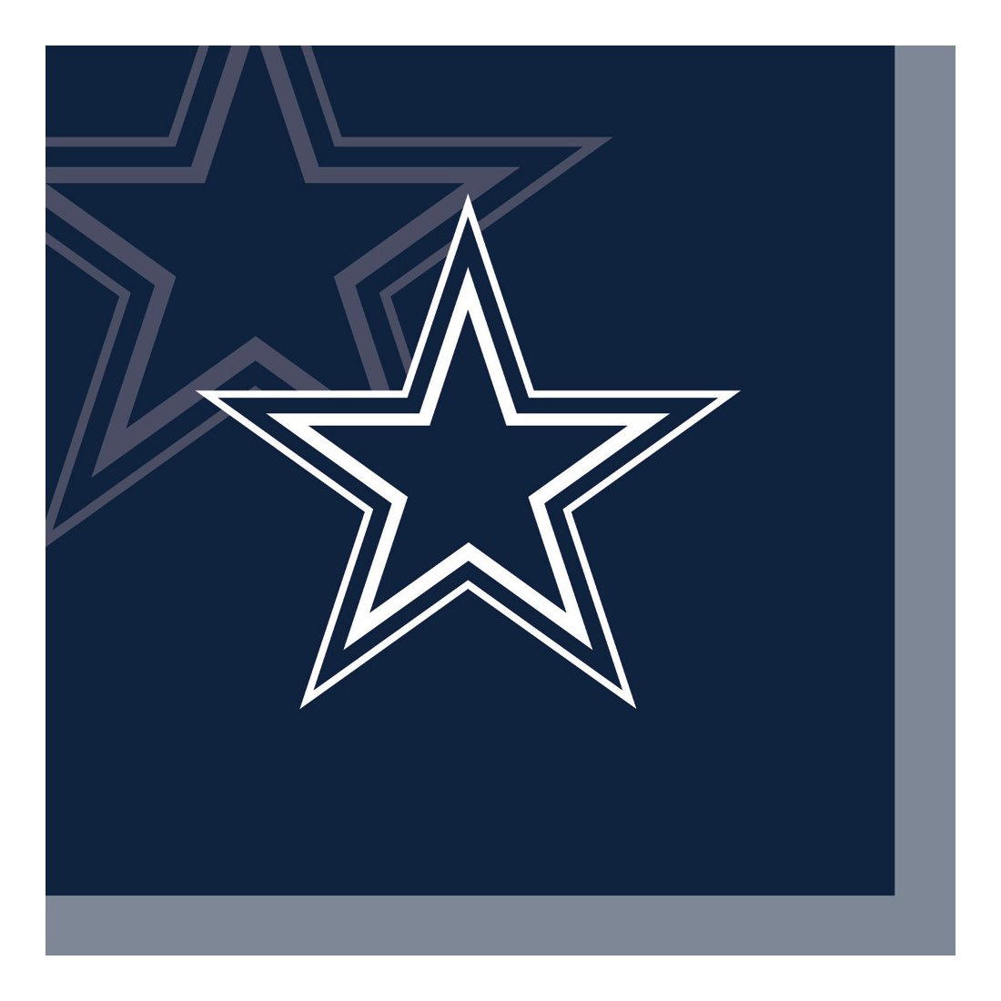 Creative Converting Officially Licensed NFL Paper Beverage Napkins, 192-Count, Dallas Cowboys