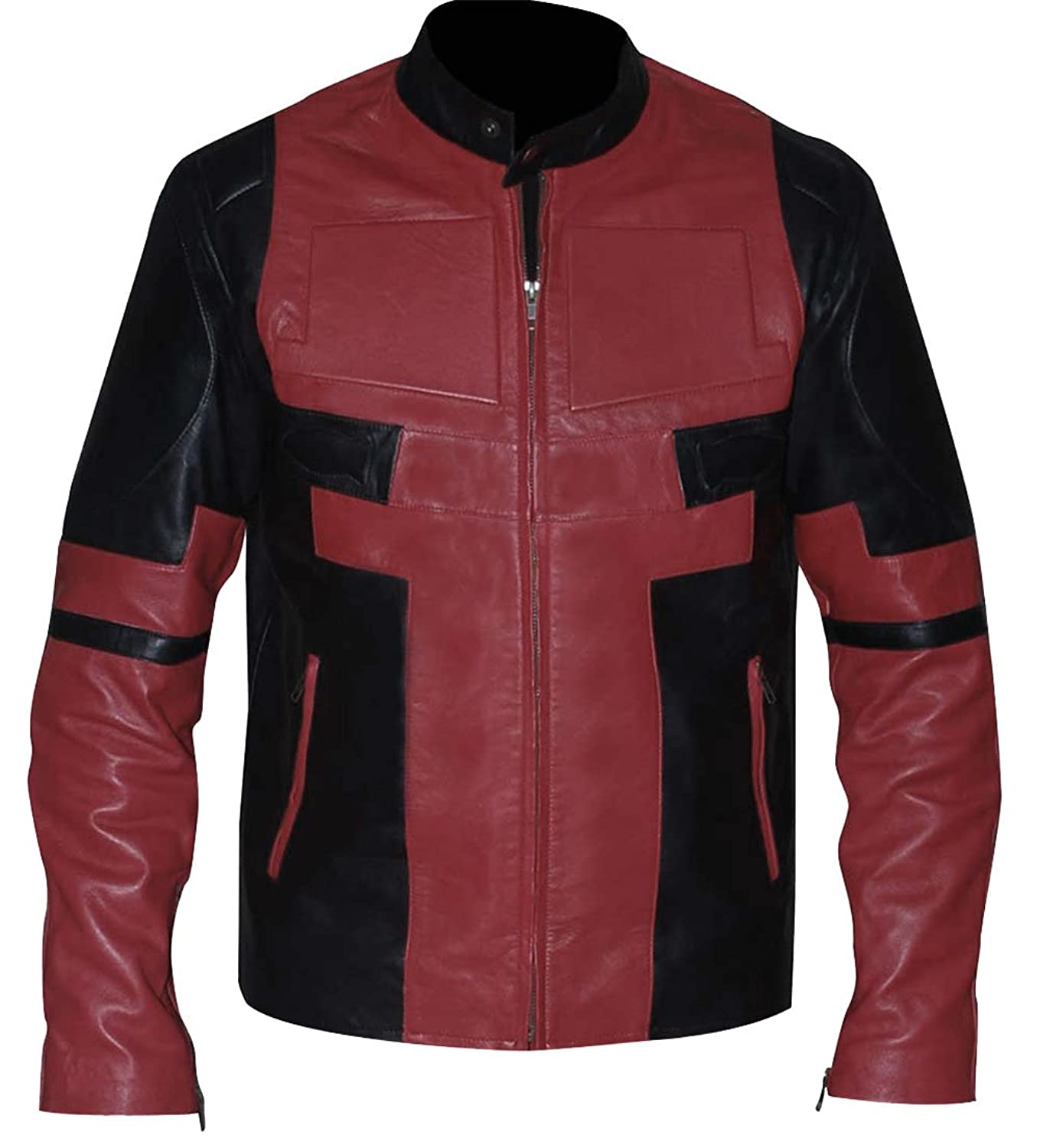 DeadPool Ryan Reynolds Black and Red Leather Jacket