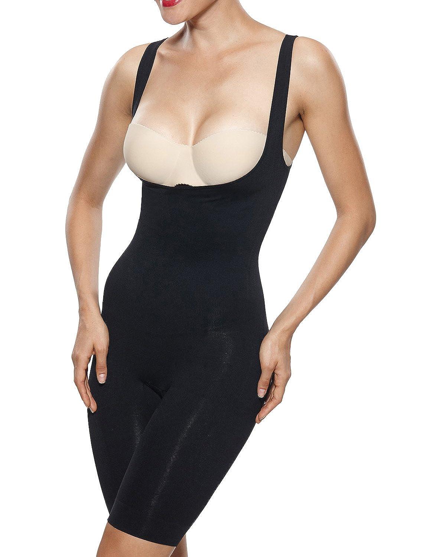 961188fcb46 Beilini Women s Shapewear Underbust Body Shaper Tummy Control Bodysuit at  Amazon Women s Clothing store