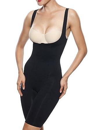 646debdf514 Beilini Women s Firm Control Bodysuit Shapewear Underbust Body Shaper Black  S