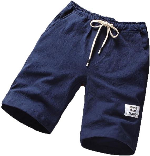 LAND-FOX Pantalones Cortos de los Hombres de la Moda Pantalones ...