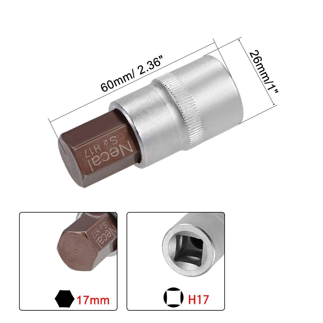 uxcell 2Pcs 3//8-Inch Drive T50 Torx Bit Socket S2 Steel