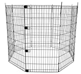 AmazonBasics Foldable Metal Pet Exercise and Playpen - 48-Inch