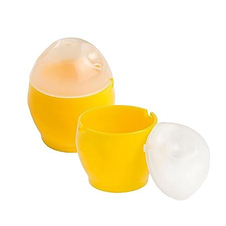 Eddingtons - Escalfador de huevos para microondas juego de 2 hueveras