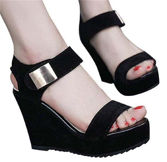 a60be61967ea9 Amazon.com: High Heel Sandals Womens Summer Wedge Paltform Sandals ...