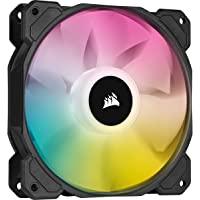 Corsair iCUE SP120 RGB Elite Performance 120 mm PWM Single Fan (CORSAIR AirGuide Technology, Eight Addressable RGB LEDs…