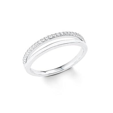 7aa5333a112b S.Oliver Damen-Ring 925er Silber Zirkonia (silber)  Amazon.de  Schmuck