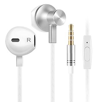 b23cf27af05 Auriculares In-Ear auriculares con microfono, auriculares cable,  Cancelación de Ruido (Blanco): Amazon.es: Electrónica