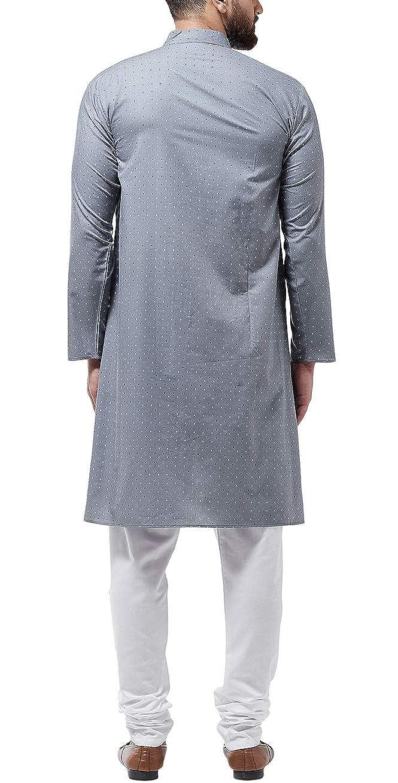Bollywood-Indian-Kurta-Pajama-Dress-Tunic-Printed-Top-Men-Kurta-Ethnic-Wear thumbnail 21