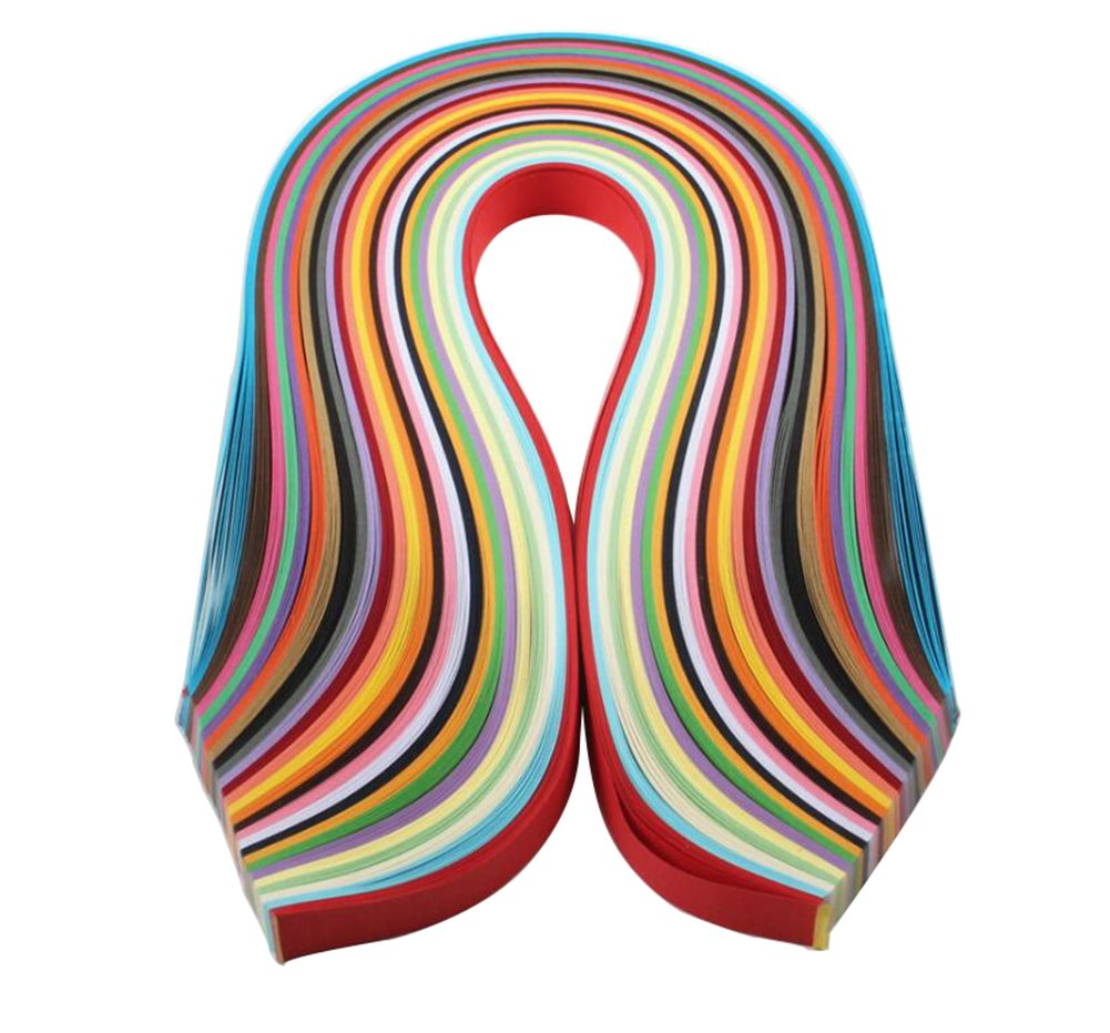 Qingsun Paper Quilling Strips Set 260 Strips 26 Colors Quilling Paper Strips 39cm Length 3/5/7/10mm Width Quilling Paper(39cm3mm)