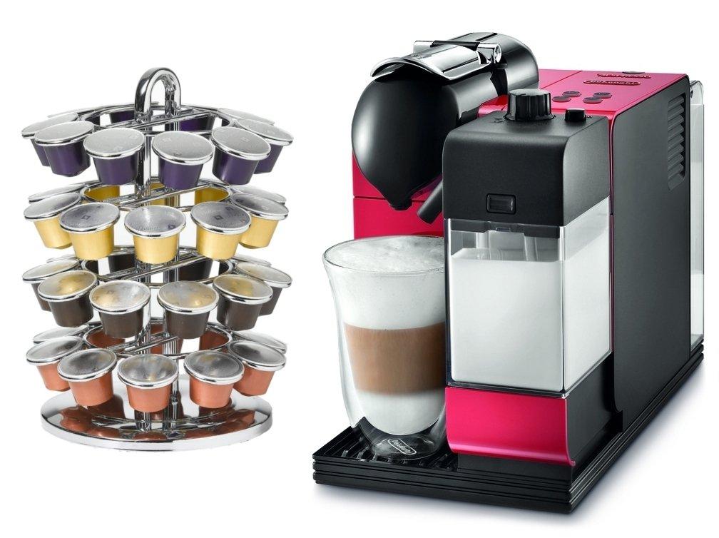 Amazon.com: DeLonghi Lattissima Plus EN520R Red Nespresso Capsule ...