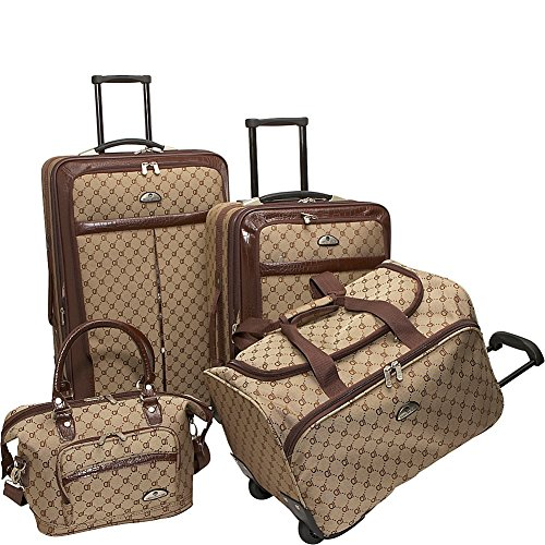 american-flyer-luggage-signature-4-piece-set-brown-one-size