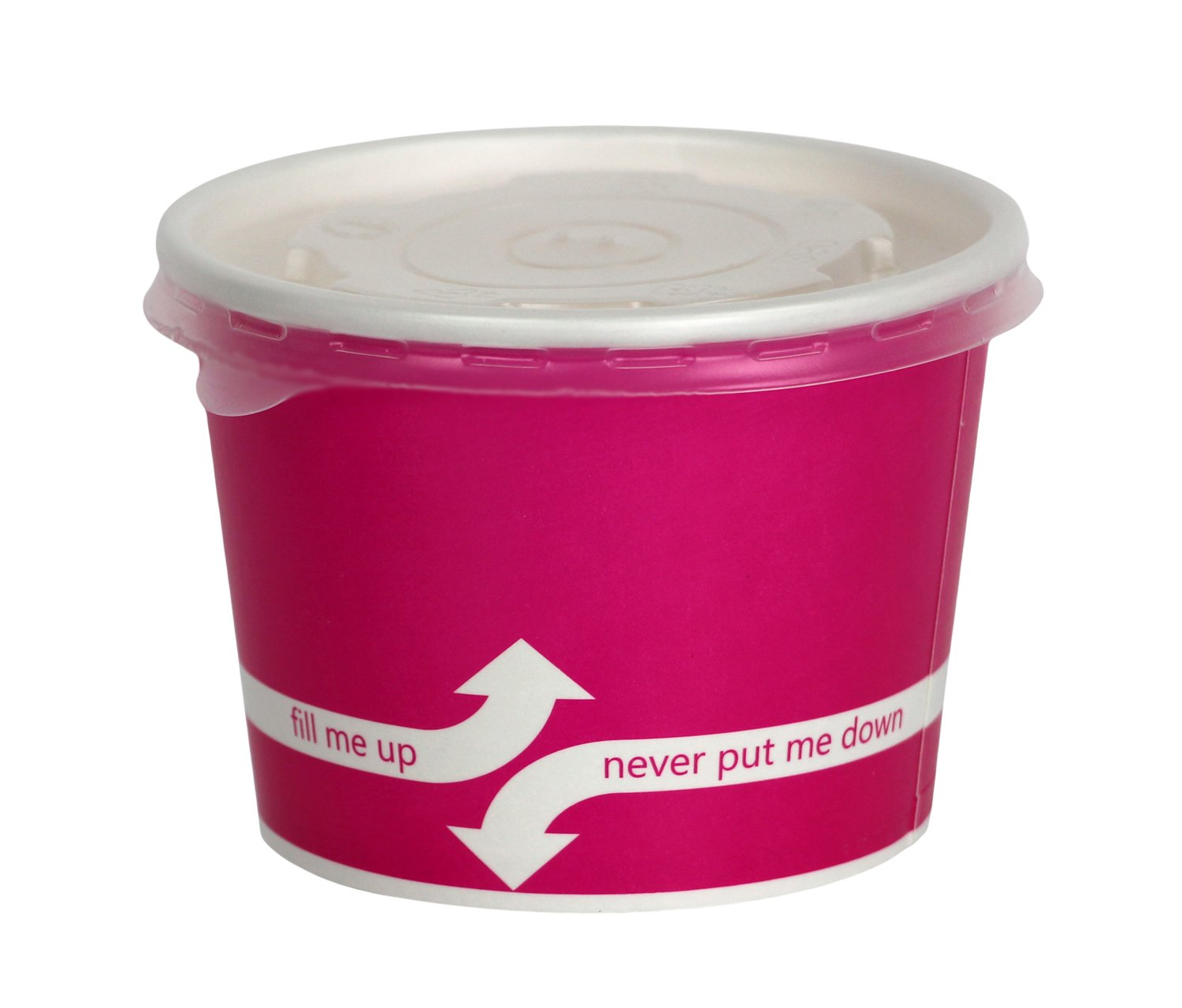100 Count Pink Deli Containers Durable Food Storage Containers with Lids Hot and Cold Disposable 12oz Containers Use for Frozen Desserts, Soups, or Any Food of Your Choice