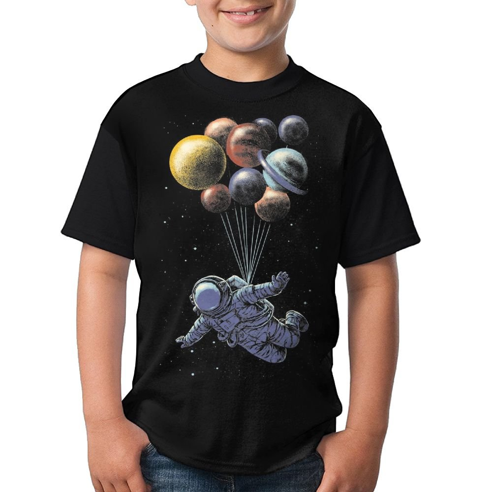 LANGEGE Space Travel Youth Boys/Girls Summer Short Sleeve Tops T-Shirt