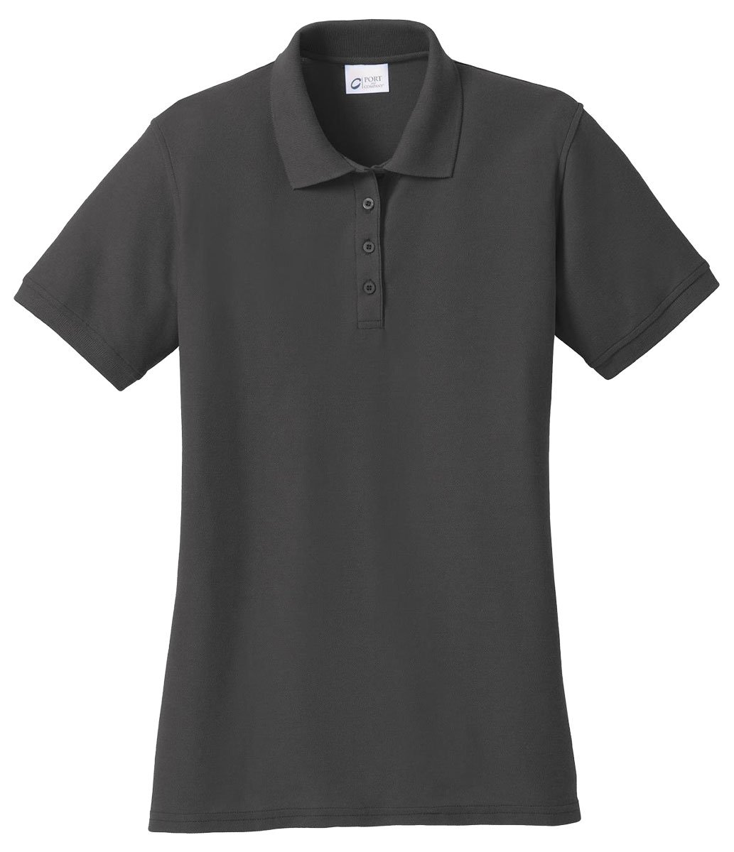 Port & Company Women's 50/50 Pique Polo L Charcoal