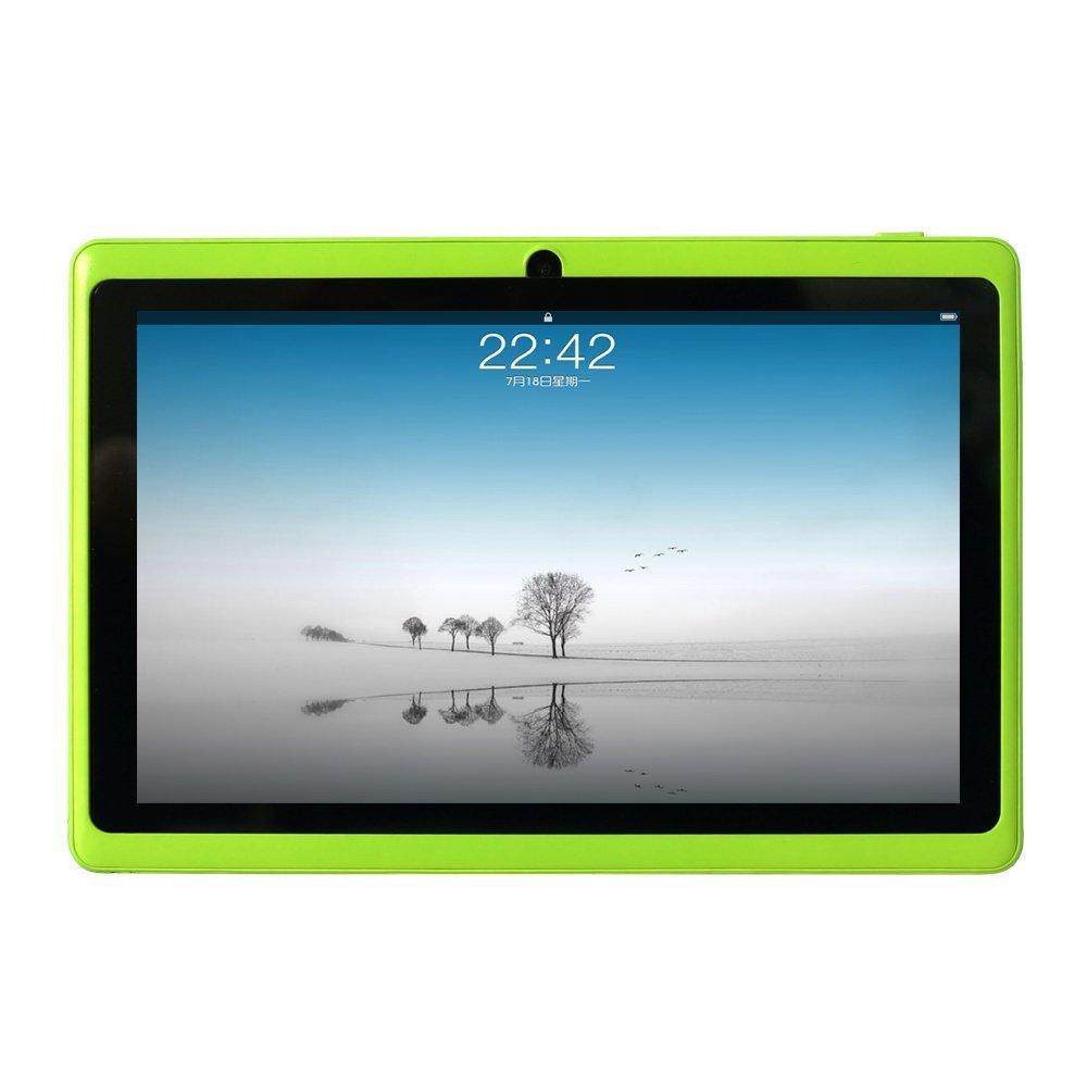 Yuntab Google Android 7 inch Tablet PC Wifi 8GB Ram Z88 Allwinner A33 Quad-core 2200mAh Dual Cameras Pad (Green)
