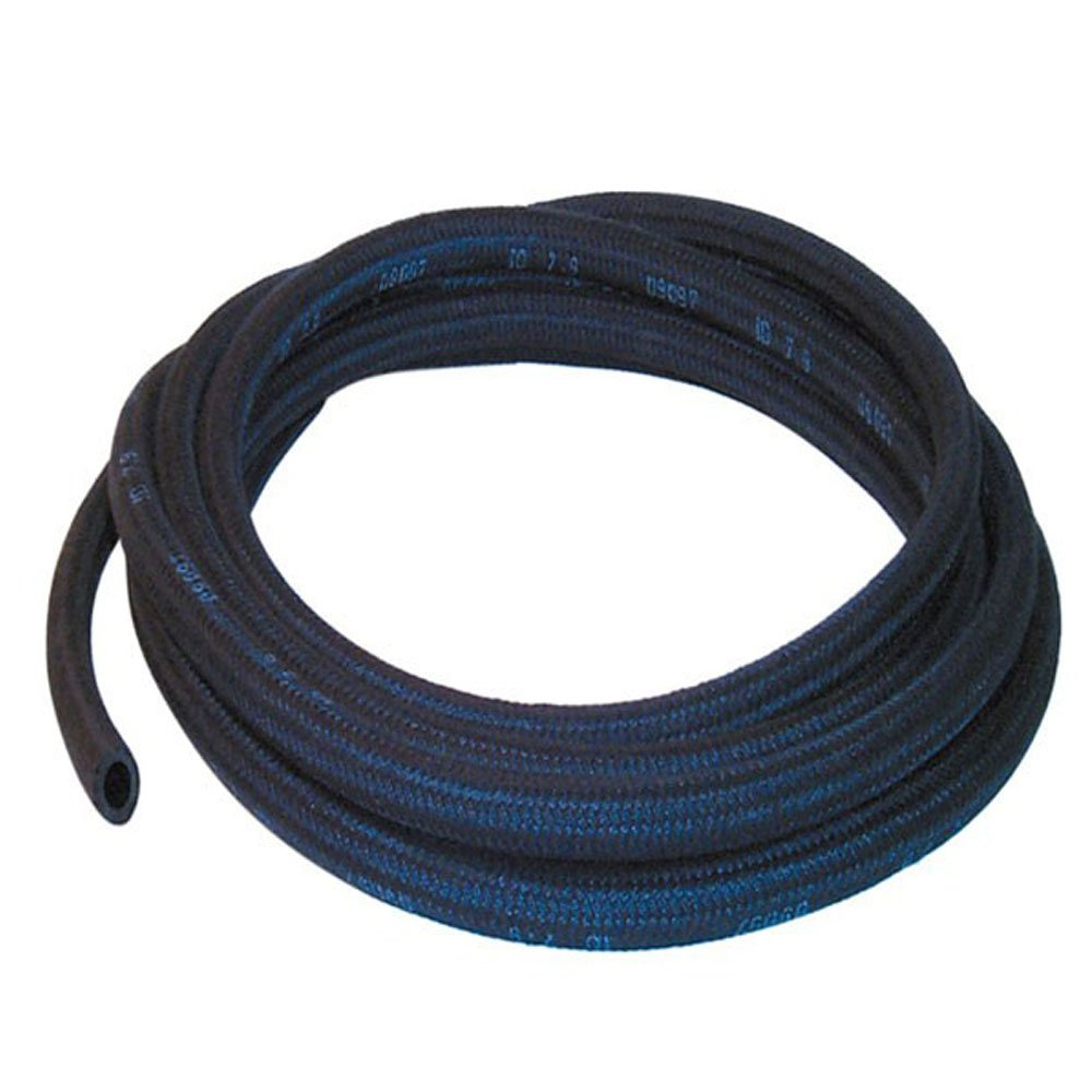 3.2mm ID Black 3 Metre Length Rubber Hose With Cotton Overbraid AutoSilicon.