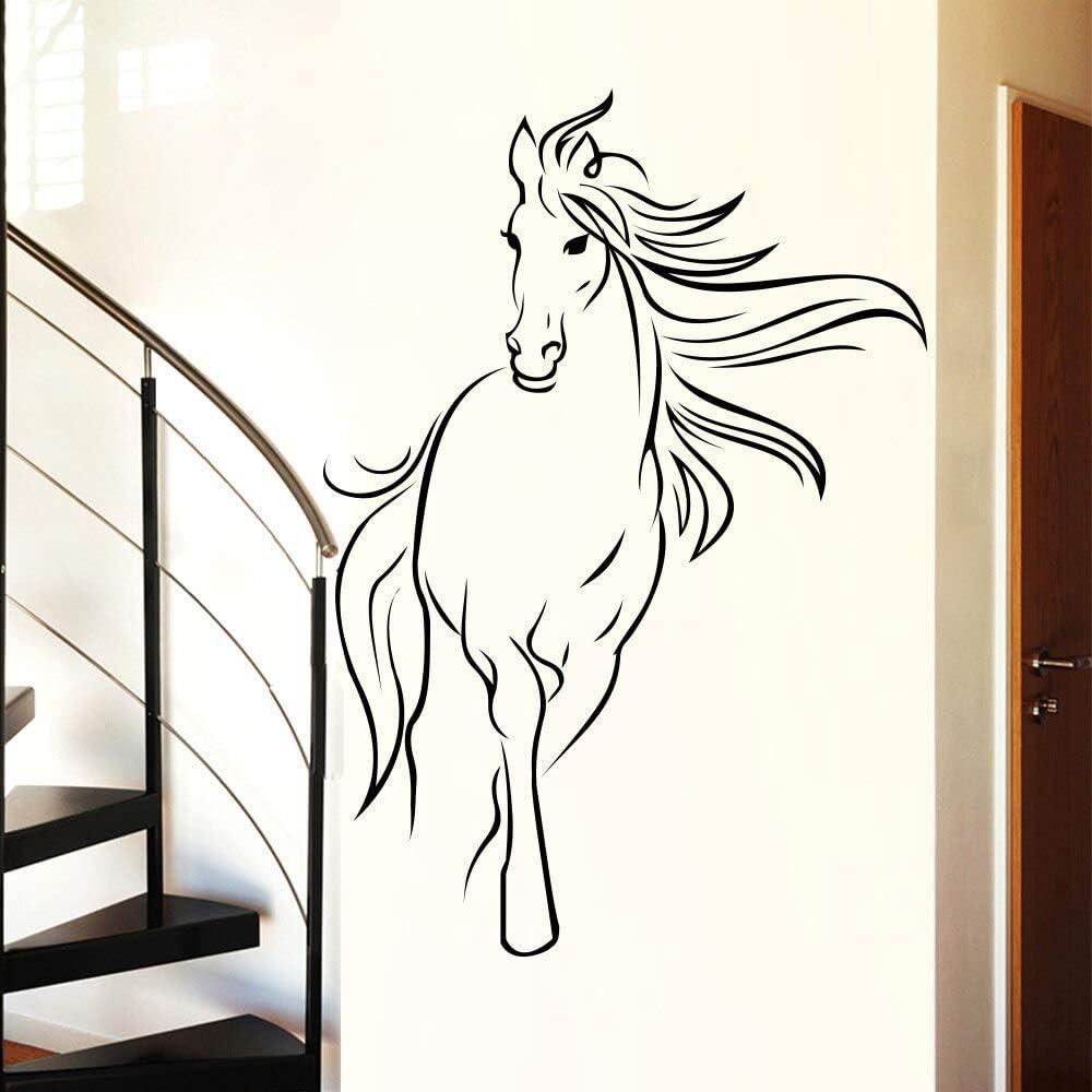 Tianpengyuanshuai Etiqueta de la Pared del Caballo para la Sala de Estar decoración de la Pared Vinilo extraíble decoración del hogar 51X69cm