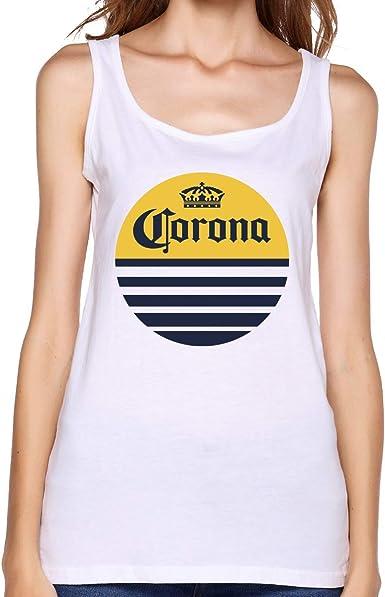 GGdjst Corona Extra - Camiseta de tirantes de algodón para mujer: Amazon.es: Ropa y accesorios
