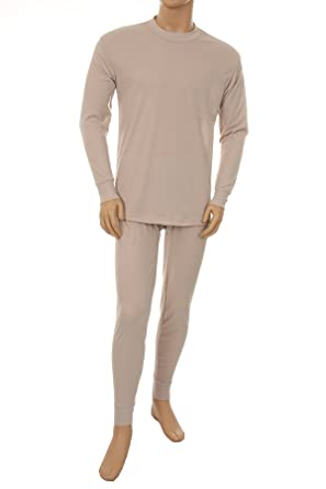 Basico Men's 2pc Long John Thermal Underwear Set 100% Cotton at ...
