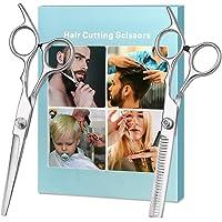 Hair Cutting Scissors, Professional Hair Cutting Shears - Home Haircutting Barber Salon Thinning Shears Kit with Comb…