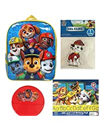 Paw Patrol Boys Back To School - Backpack, Snack Container, Writing Pad, Gel Cling