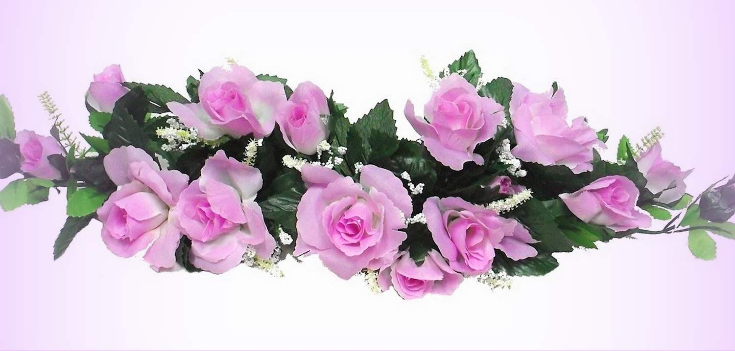 Inna-Wholesale-Art-Crafts-New-Lavender-Lilac-Swag-Silk-Roses-Centerpiece-Decorating-Flowers-Arch-Gazebo-Pew-Decor-Perfect-for-Any-Wedding-Special-Occasion-or-Home-Office-Dcor