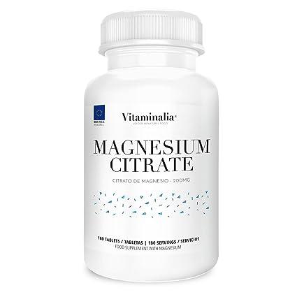 Citrato de Magnesio | Dosis Diaria 200mg (32mg Magnesio Elemental) | Suministro para 6