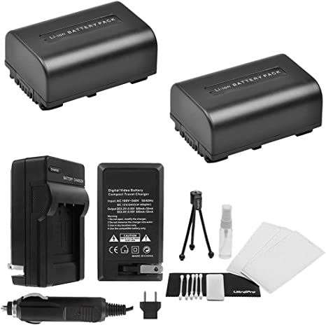 HDR-XR260V Battery 2 Pack for Sony HDR-XR150 HDR-XR550V Handycam Camcorder HDR-XR160 HDR-XR350V HDR-XR155