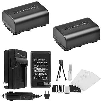 Amazon.com: Batería NP-FV50 2-Pack Bundle con rápido ...