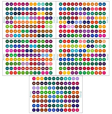 Young Living Essential Oils Labels - Complete Set - Includes Multiple Young Living Bottle Cap Stickers for Most Young Living Oils - Perfect Lid Stickers to Keep Your Oils Organized