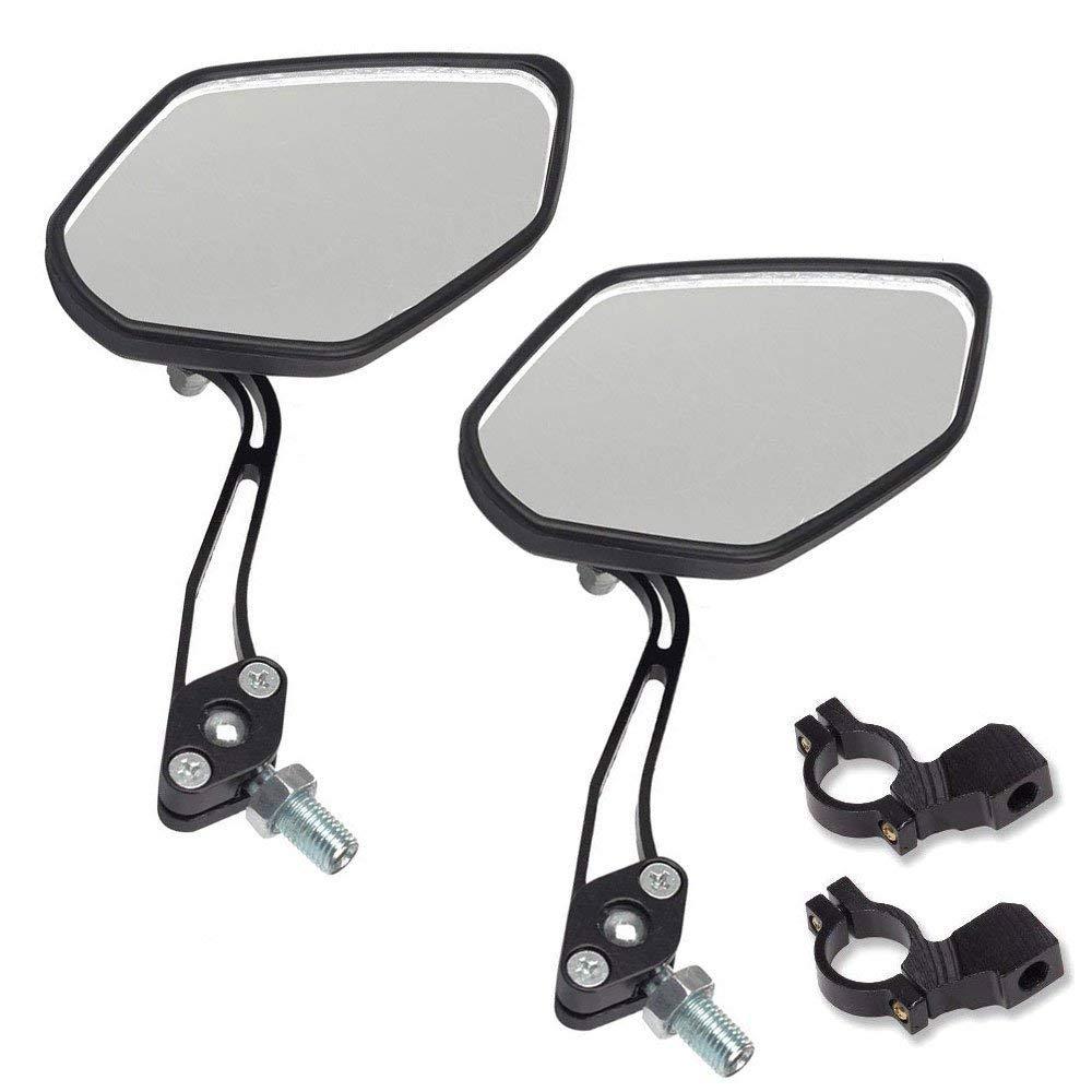 Thlevel - Espejo de Cristal para Manillar de Bicicleta de montaña, 2 Unidades, Universal, Giratorio, 360 Grados