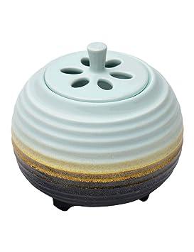 Aromaterapia Estufa de Cerámica Termóstato de Calefacción Eléctrica Timing Incienso Quemador-hogar Interior de Aceite Esencial, Madera de Agar, ...