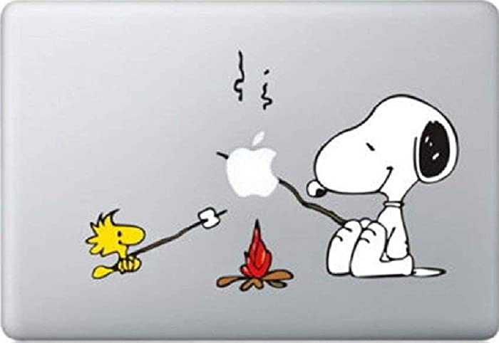 Snoopy BBQ Decal Color Sticker for MacBook Pro Laptop Computer Decorative Vinyl Stickers Mac Air Fits 13 and 15 Inch